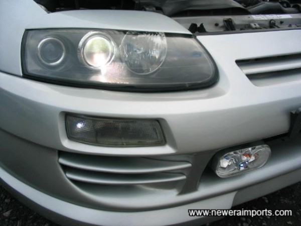 Hid Headlights with eyebrows fitted.
