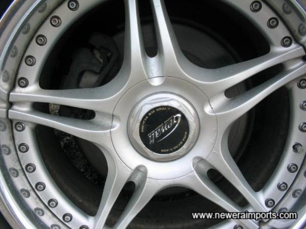 Minor corrosion to o/s/r wheel.