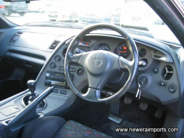 Steering wheel unworn
