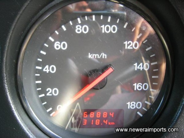 Mileage in km, before recalibration in the UK