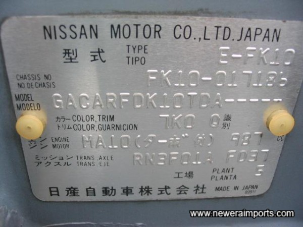 Chassis Plate.