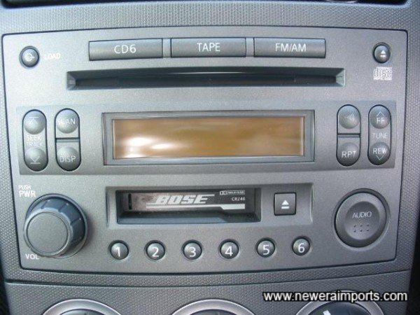 6 CD Changer, Cassette & Radio.