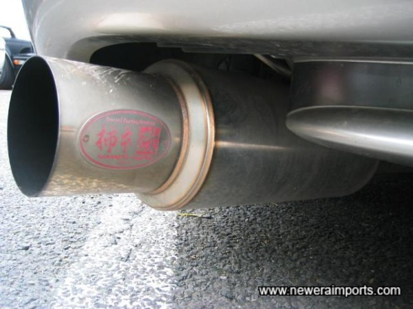 Stainless exhaust. With V6 and twin turbos, you know it sounds good.