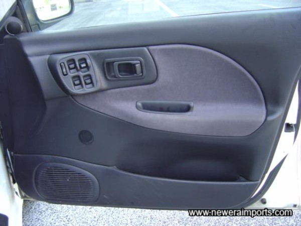 Optional electric windows and central locking on this RA example.