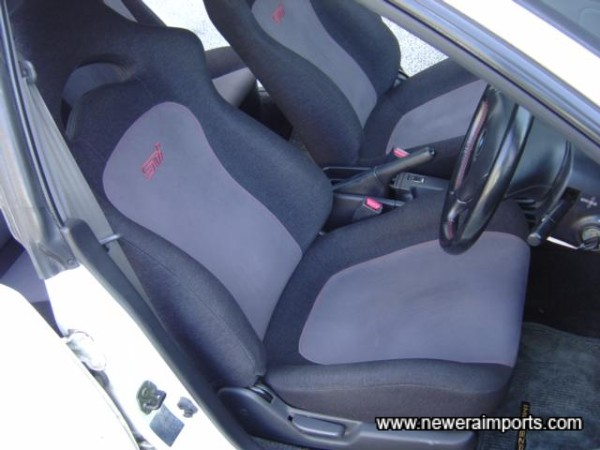 STi embroided interior