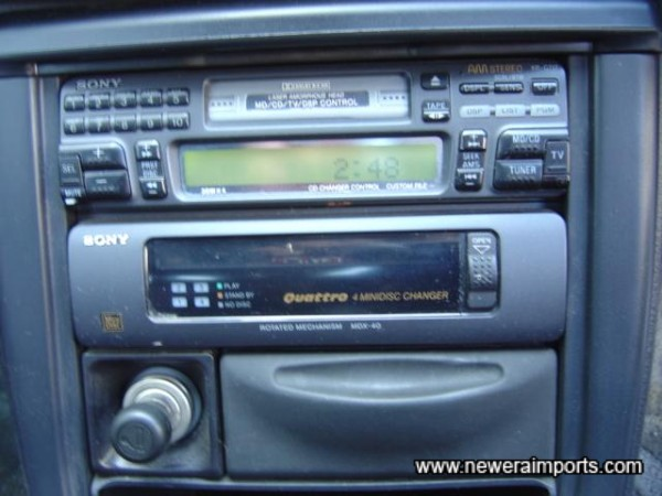 Radio/Cassette with 4 Disc CD changer