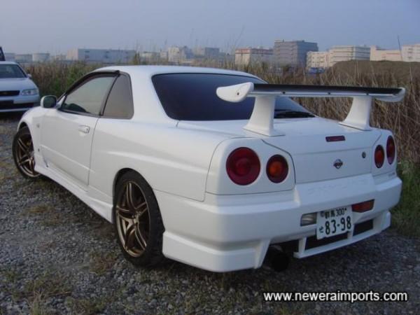 R34 GT-R rear spoiler.