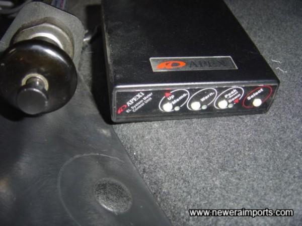 Apexi gauge controller & Apexi exhaust valve controller.