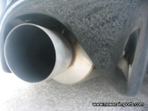 Trust Xtreme stainless exhaust system.