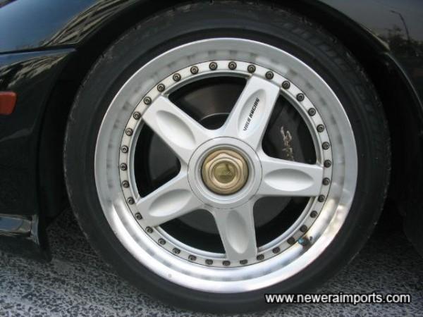 Volk Racing CV Pro 18' alloy wheels.