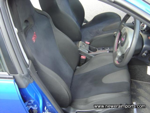 STi seats support the driver and passenger well.