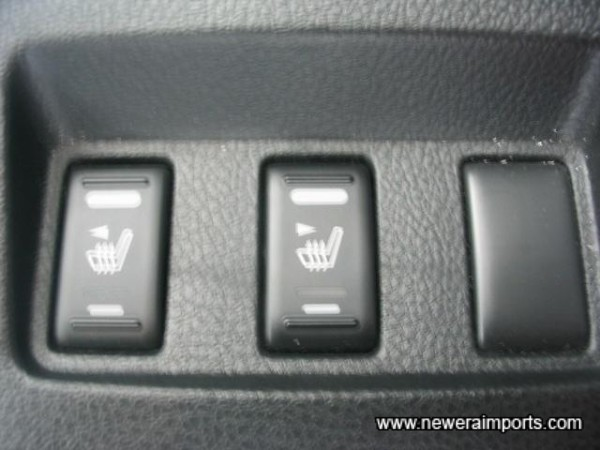 Heated seats (ST models only)