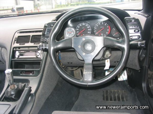 Steering wheel to be changed prior to shipment.