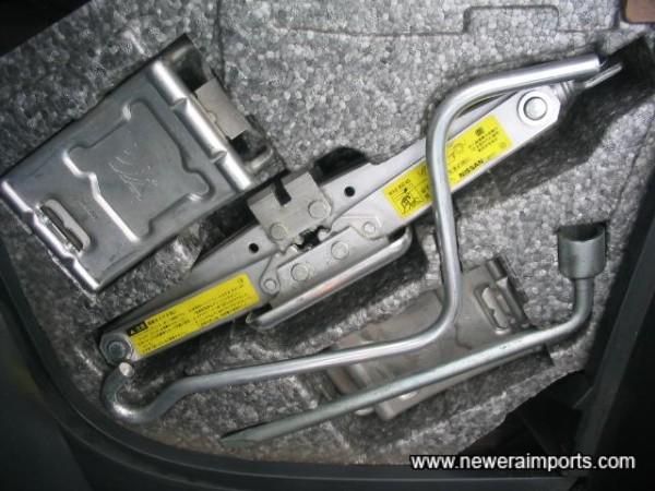 Complete unused jack & tool kit.