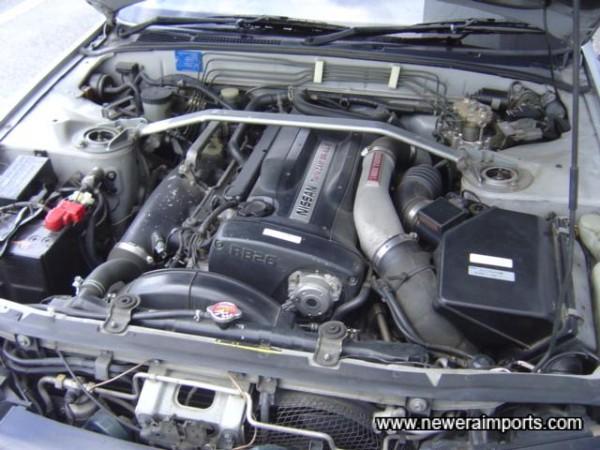 Nismo strut brace - mostly standard engine bay - Lower insurance!