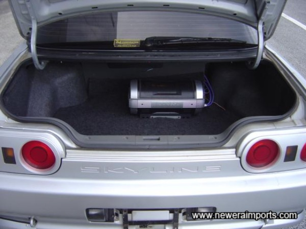 Subwoofer in the boot.