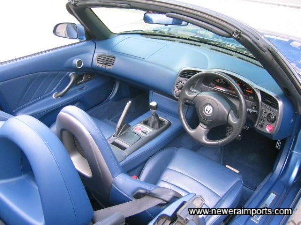 Blue Leather Interior