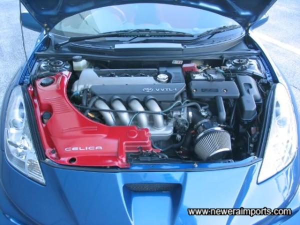 Engine Cover matches interior.