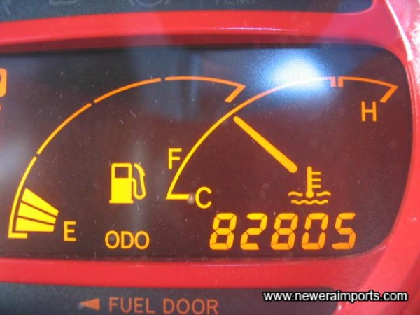 Original Odometer reading before conversion.