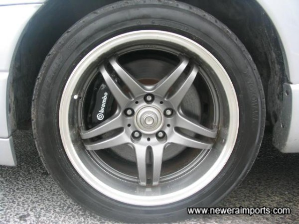 17' 5Zigen Graphite Grey Alloy Wheels