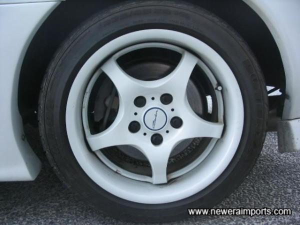 16' White 5 spoke forged Alloy Wheels