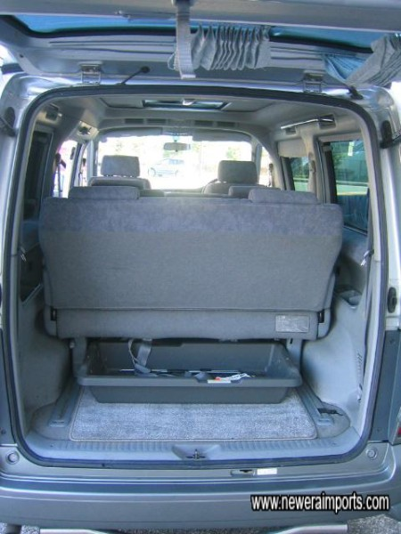 Rear bench seat - slides easily to make space.