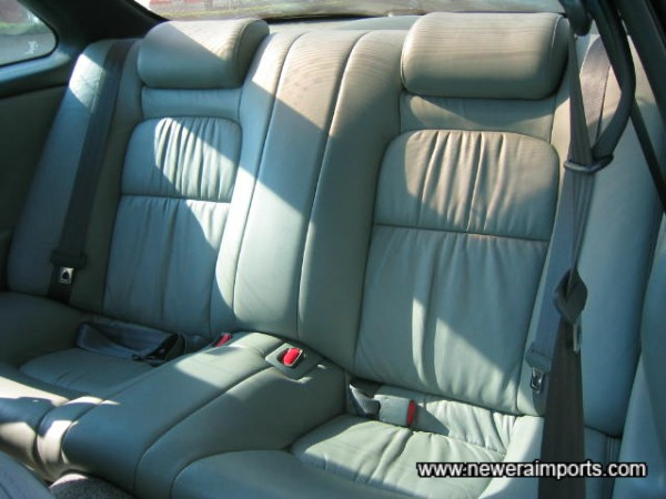 Rear seats look as if they've never been sat on.