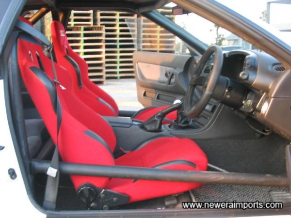 Sparco Star seats - supportive & adjustable.