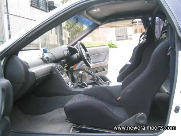 Twin Reclinable & adjustable Recaro seats.