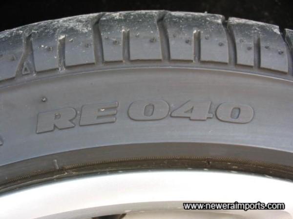 High Performance Bridgestone Potenza tyres fitted as std.