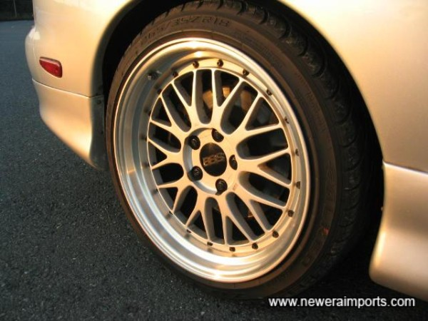 BBS LM's - the most expensive wheels available for RX-7's.
