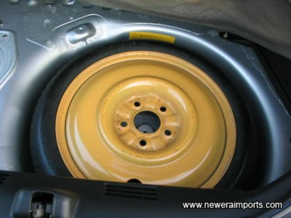 Note that spare wheel securing bolt is missing. New one is to be ordered and fitted.