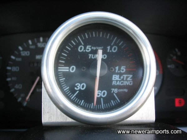 ''Blitz Racing'' Boost gauge.