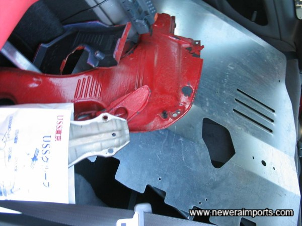 Engine Covers - painted red, but poorly. These and Fuse cover are to be replaced with new OEM spec items.