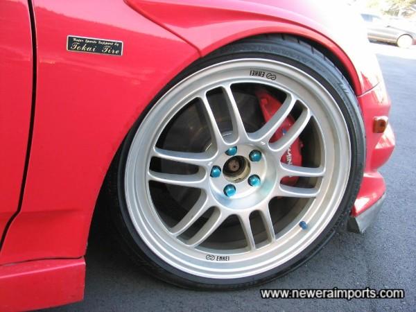 Enkei Racing 18'' alloy wheels.