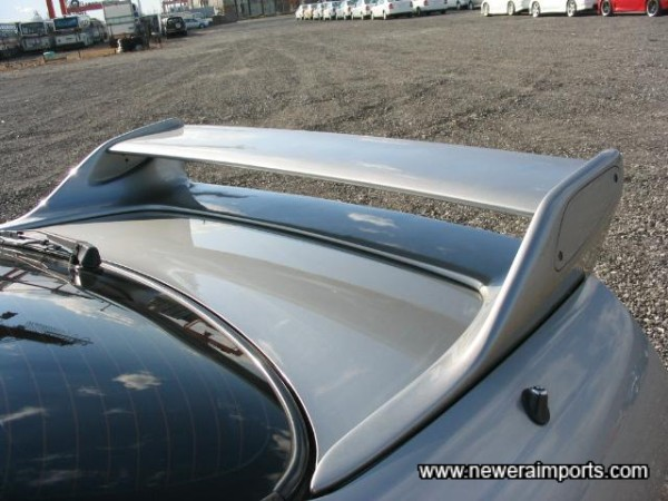Original GT-R Adjustable rear spoiler.