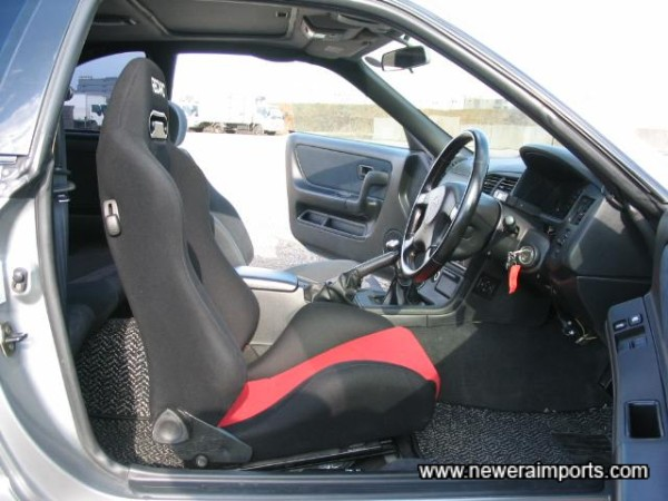 Recaro seat provides improved support and comfort.