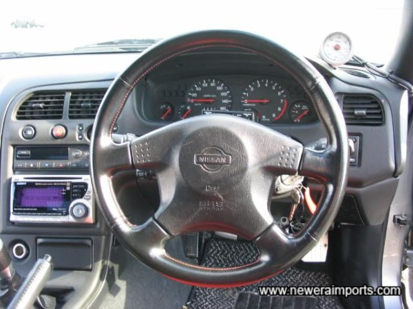 Slimline SRS steering wheel.