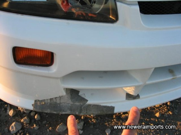 Front bumper damage - To be repaired