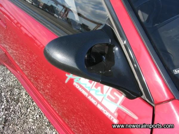 Ganador Carbon look remote controlled door mirrors.