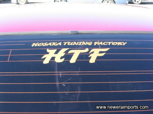 Hosaka Tuning Factory - The Garage responsible for the tuning mods on this example.