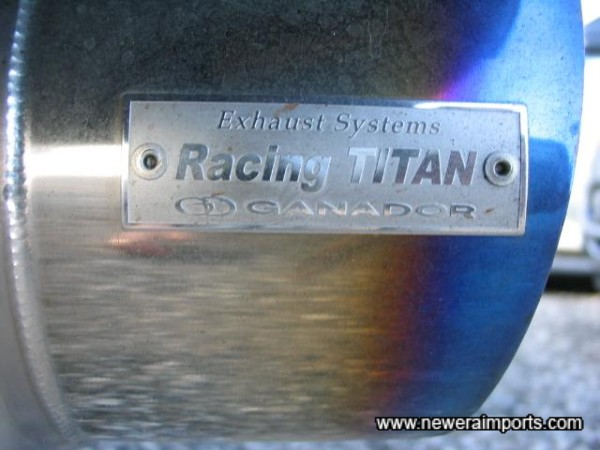 Titanium exhaust - A rarity on any car in Japan due to expense!