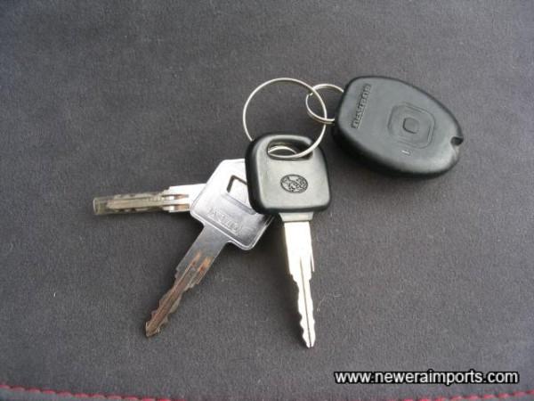 Complete set of original keys.