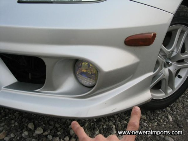 Small Scratch to Bumper Lip-To Be Repaired As Part Of UK Preperation