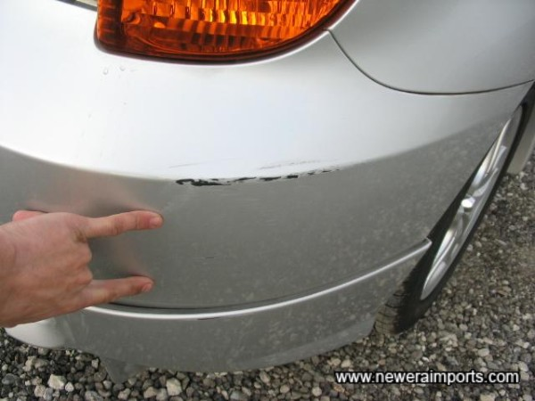 Scratch to Rear Bumper-To Be Repaired As Part Of UK Preperation