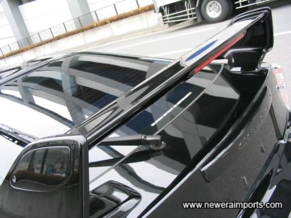 Optional High Level Rear Spoiler with Third Stop Lamp