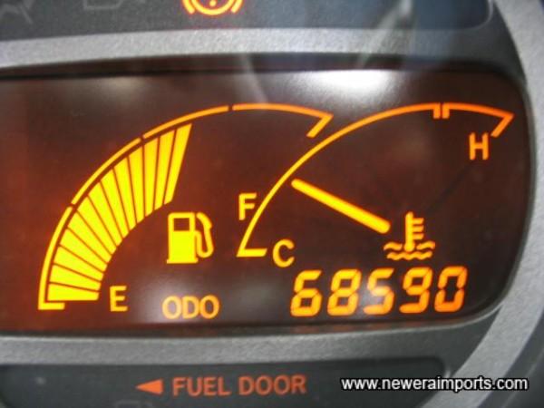Original odometer reading before recalibration in UK (42,628 miles)