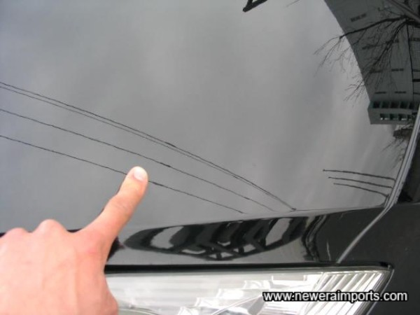 Small Scratch to the Bonnet  - To be fully repaired as part of UK preparation