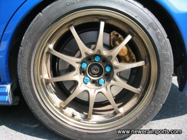 By far - Japanese forged lightweight rims are much better than anything available in UK (Gravity Cast).