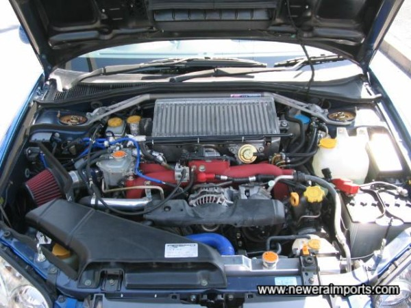 No ordinary STi 8 engine bay!